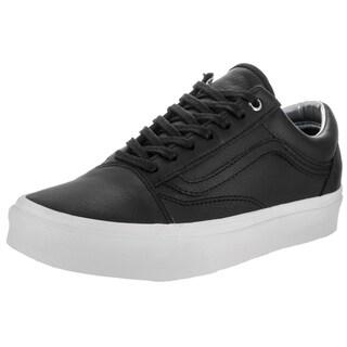 Vans Unisex Old Skool Hologram Black Leather Skate Shoes