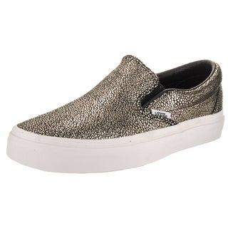 Vans Unisex Classic Slip-On Gold Dots Synthetic Skate Shoes
