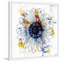 Parvez Taj - 'Stencil Flower' Framed Painting Print - Multi