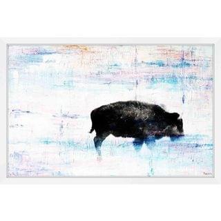Parvez Taj - 'The Buffalo Knows' Framed Painting Print