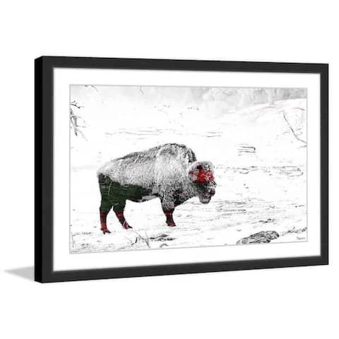Handmade Parvez Taj - Lost Buffalo Framed Print
