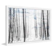 Parvez Taj - 'Thin Trees' Framed Painting Print - Multi
