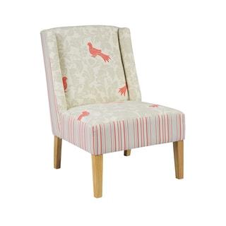 Daugherty Birds & Stripes Slipper Chair
