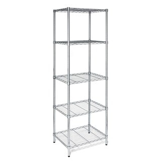 Honey-Can-Do SHF-01054 Urban Shelving 5-Tier Adjustable Storage Shelving Unit - Chrome