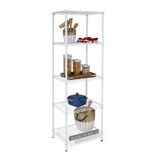 Honey-Can-Do SHF-01055 5-Tier Adjustable Shelving Unit - Silver