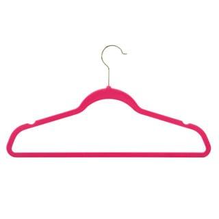 Flocked Pink Suit Hangers (50 pack)