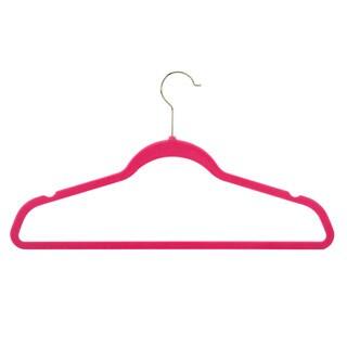 Flocked Pink Suit Hangers (50 pack) (Option: Pink)