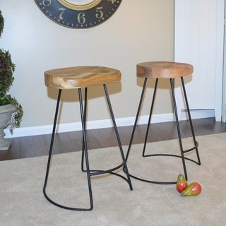 Eloise Scouped Seat Stool (Set of 2)