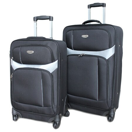 Milano 2-piece Two-tone Spinner Luggage Set