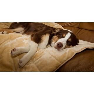 FurHaven Deluxe Quilted Fur Throw Pet Bed