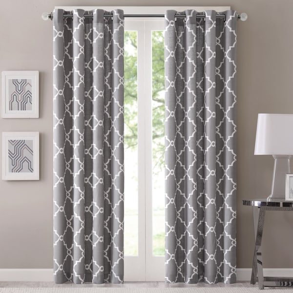 "Madison Park Westmont Curtain Panel 84"" in Grey (As Is Item)"