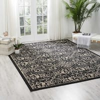 Nourison Caribbean Charcoal Indoor/ Outdoor Area Rug - 9'3 x 12'9