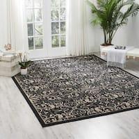 Nourison Caribbean Charcoal Indoor/ Outdoor Area Rug - 9'3 x 12'9