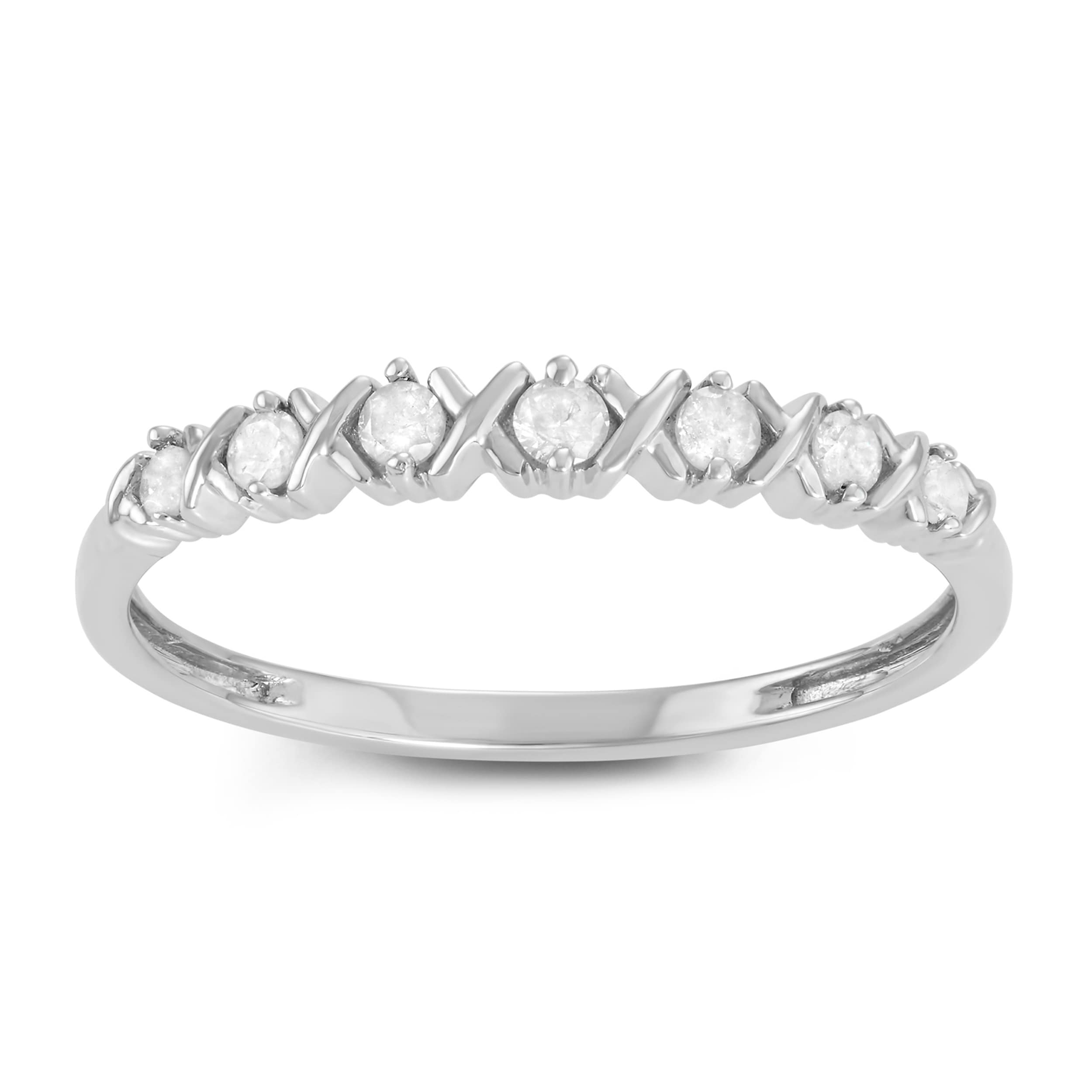 Journee collection Sterling Silver 1/6 CT TDW Diamond Rou...