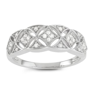 Journee Collection Sterling Silver 1 CT TDW Diamond Twist Micropave Ring