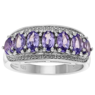 Journee Collection Sterling Silver Oval Tanzanite Ring