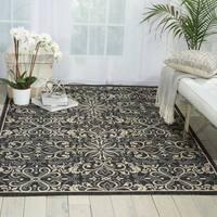 Nourison Caribbean Charcoal Indoor/ Outdoor Area Rug (5'3 x 7'5) - 5'3 x 7'5