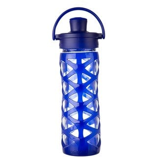 Lifefactory Blue Glass Active Flip-cap Water Bottle