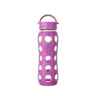 Lifefactory Glass Water Bottle with Leakproof Cap