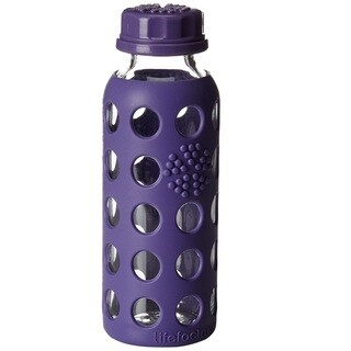 Lifefactory Kids Glass Water Bottle with Flat Cap