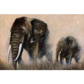 Marmont Hill - 'Under My Protection' by Bergerac Painting Print on Wrapped Canvas