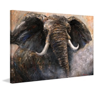 Marmont Hill - 'Intensity 2' by Bergerac Painting Print on Wrapped Canvas