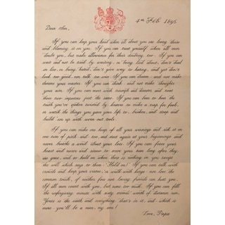IF, Rudyard Kipling typography poster 'letter to my son'