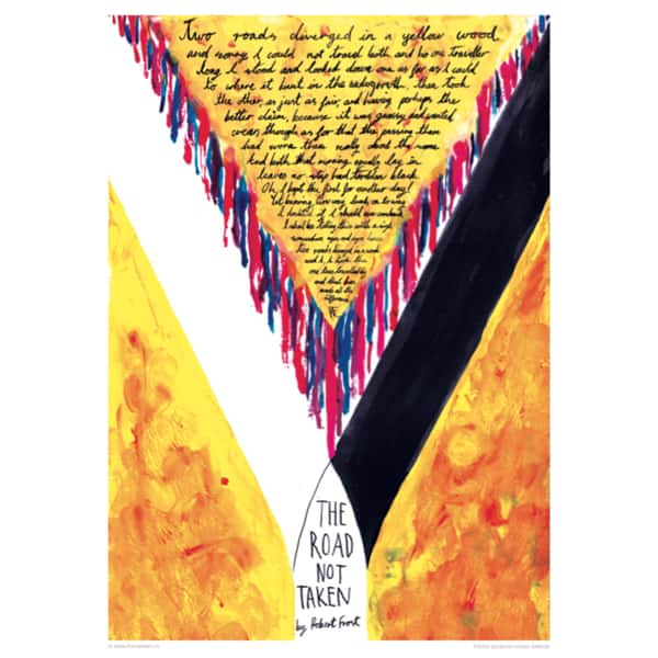 Shop Road Not Taken, Robert Frost poster 1 - Free Shipping Today