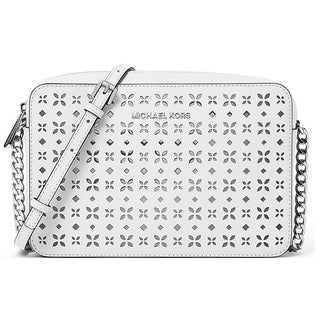 Michael Kors Large White East/West Crossbody Handbag