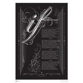 IF, Rudyard Kipling canvas poster Black