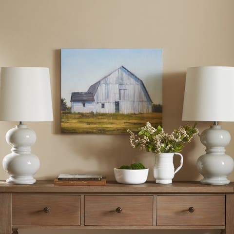 Madison Park Old White Barn Gel Coat Canvas - Multi