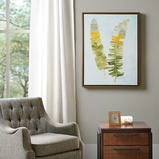 Madison Park Signature Stunning Fern Green Heavy Roll Gel Coat Canvas with Frame