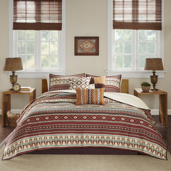 Madison Park Davy Spice Printed 6 Piece Coverlet Set
