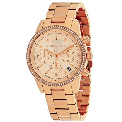 d1c344694b8d Shop Michael Kors Women s Ritz MK6357 Watch - Free Shipping Today -  Overstock - 13748753