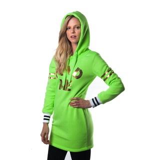 Special One Women's Cotton-blend Casual Mini Dress Hoodie Sweatshirt