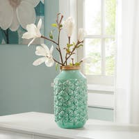 Madison Park Averly Modernist Aqua Vase