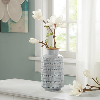 Madison Park Averly Modernist Grey Vase