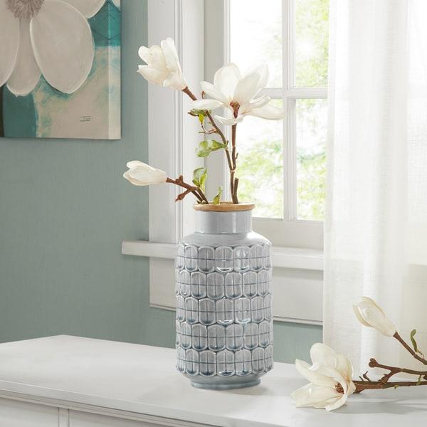 Madison Park Averly Modernist Grey Vase. Opens flyout.