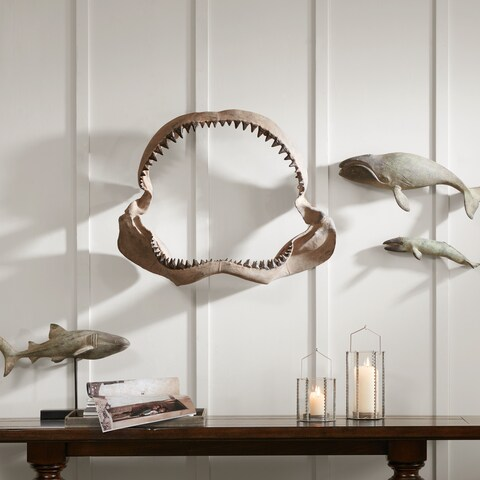 Madison Park Brax Brown Shark Jaw Wall Hanging