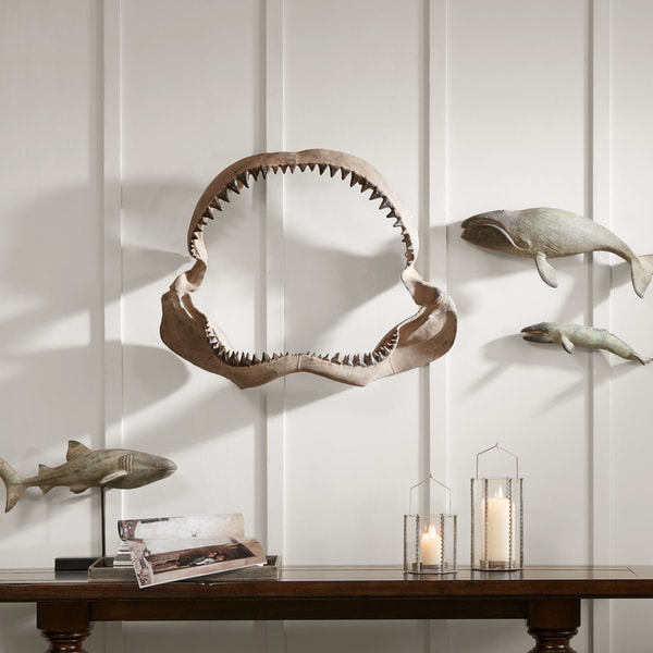 Shop Madison Park Brax Brown Shark Jaw Wall Hanging - On