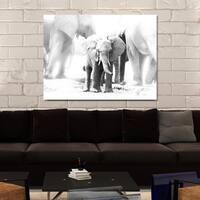 """Baby Elephant"" Giclee Print Canvas Wall Art"