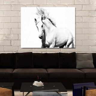 """""""Horse Running"""" Giclee Print Canvas Wall Art"""
