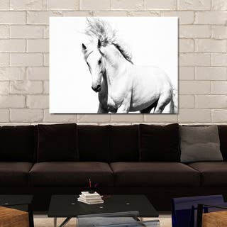 """Horse Running"" Giclee Print Canvas Wall Art