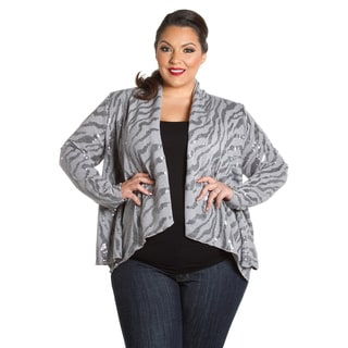Sealed with a Kiss Women's Plus Size Sequin Cardigan