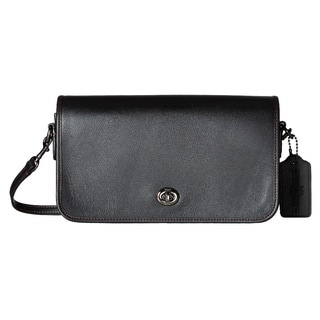 Coach Leather Turnlock Black Crossbody
