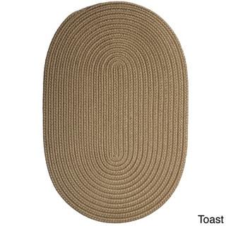Colonial Mills Solid-colored Polypropylene Indoor/Outdoor Reversible Braided Doormat