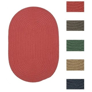 Colonial Mills Solid-colored Polypropylene Indoor/Outdoor Reversible Braided Doormat