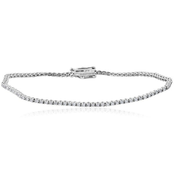 14k White Gold 1 2 Ct Tdw Diamond Tennis Bracelet