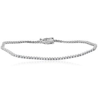 14k White Gold 1 1/2 ct TDW Diamond Tennis Bracelet (I-J,I2-I3)