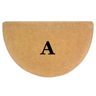 Heavy Duty Half-round Monogrammed Coco 22-inches x 36-inches Mat (More options available)